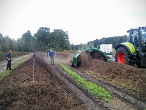 Gut Krauscha: Turning of the compost piles